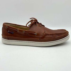 Sebago Mens Ryde 2 Eye Boat Shoes Brown 12